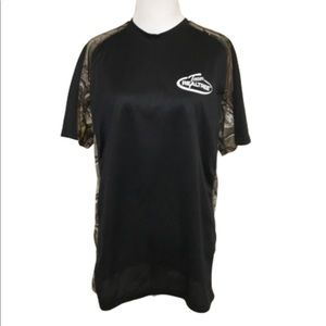 REALTREE Black & Camo Short Sleeve Shirt M